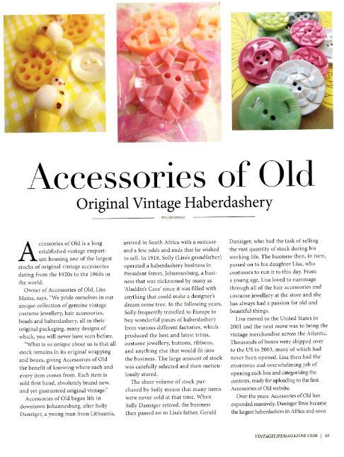 Vintage life pg 1