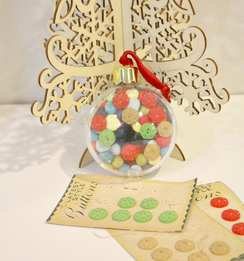 Buttons on a photo in a christmas ball 1